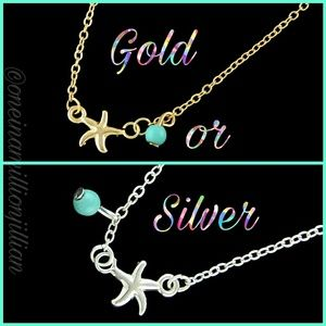 Jewelry - Dainty Starfish Anklet - Gold or Silver